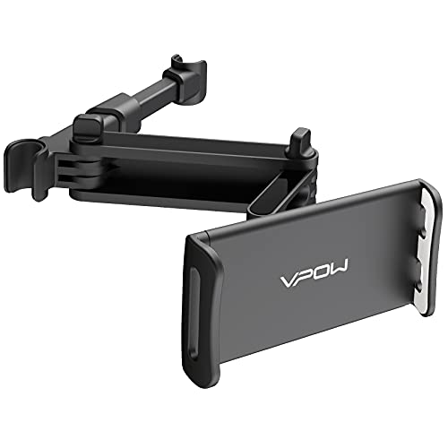 VPOW Tablet Halterung Auto, KFZ-Kopfstützen Halterung, Universal Kopfstützenhalterung für iPad iPhone Serie/ Samsung Galaxy Tabs/ Nintendo Switch Smartphone usw 4.4~11 Zoll Geräte. (Black)
