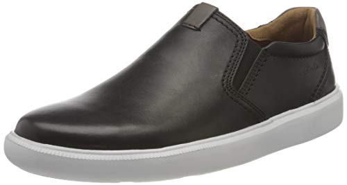 Clarks Herren Cambro Step Slipper, Black Leather, 43 EU