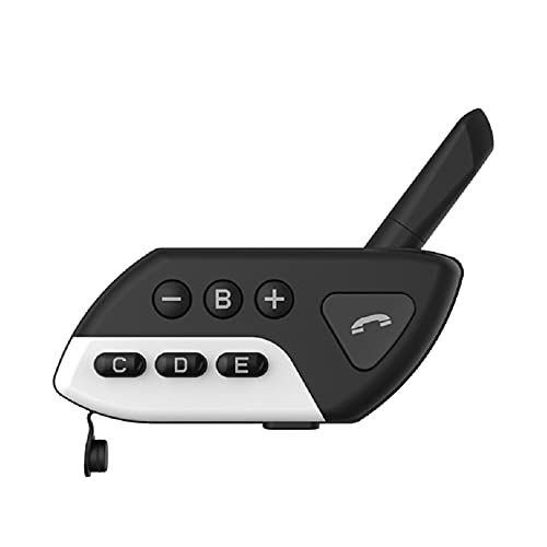 KKmoon Auriculares Moto Casco BT Impermeable con Radio FM Llamadas Manos Libres Comando de Voz Reducción de Ruido Auriculares Manos Libres para Casco Moto Admite Intercomunicador de 5 Personas