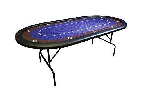 TDPOKER Mesa Tablero Poker Plegable 84″ Torneo Azúl