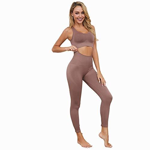Jstrand Women's Yoga Wear, Naadloos Outdoor Sport Training Suit, Panty's En Top Suit, Yoga Wear, Dames Indoor Sportkleding, Sportkleding, Gymnastiek Pak 2