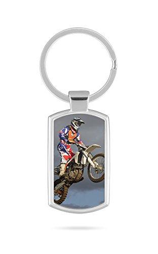 Schlüsselanhänger mit Gravur Wunschtext Name Motocross Cross