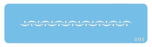 JEM Bordürenschablone Über und Unter, Kunststoff, Blau, 15 x 1 x 15 cm