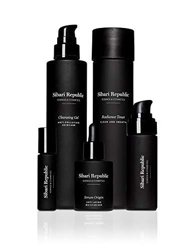 Sibari Republic Ciclo Facial. Línea de Tratamiento de 5 productos, en tamaño original.