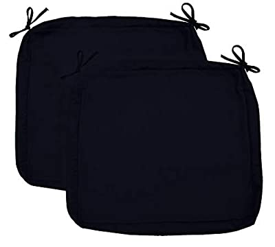 "Sigma Outdoor Seat Cushion Cover Water Repellent Patio Deep Seat Chair Cushion Cover-Only Cover Black 24""x24""x4""(2 Covers)"