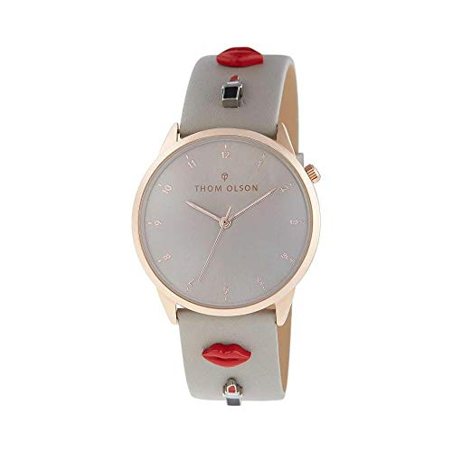 Thom Olson Day Dream Grey Passion with Gray Leather Strap for Women's, Watch CBTO009