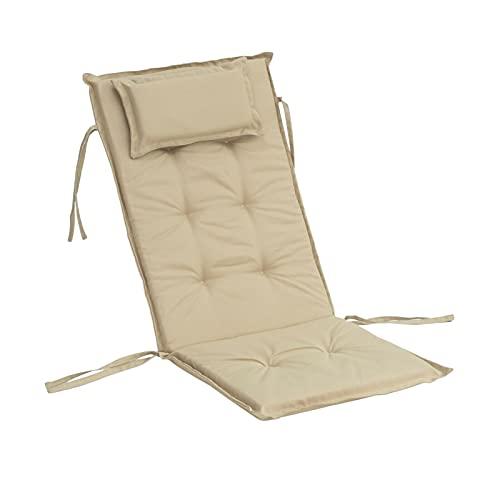 Seat Cushion Chair Lange Kissenmatte für den Liegestuhl Rolling Rattan Stuhl Falten Dicke Outdoor Garten Sonne Lounge Sitz Kissen Sofa Tatami Matte Kein Stuhl Seat Cushion Chair (Color : Khaki)