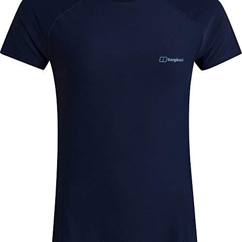 Berghaus Camiseta de Manga Corta para Mujer 24/7, Mujer, Camiseta, 4A000884R14, Azul (Dusk), 48
