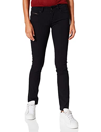 Pepe Jeans New Brooke W Jeans Vaqueros, Negro (Black 999), 28W / 32L para Mujer