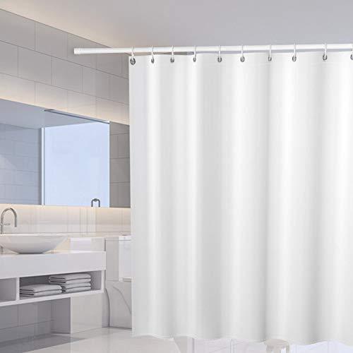 ZFHUAFENG Duschvorhänge Duschvorhang Reinweißes Muster Schimmelpilzwiderstandsfähiger Badezimmervorhang Mit Haken wasserdichte Polyester-Baddusche Wohnkultur, 120X180Cm