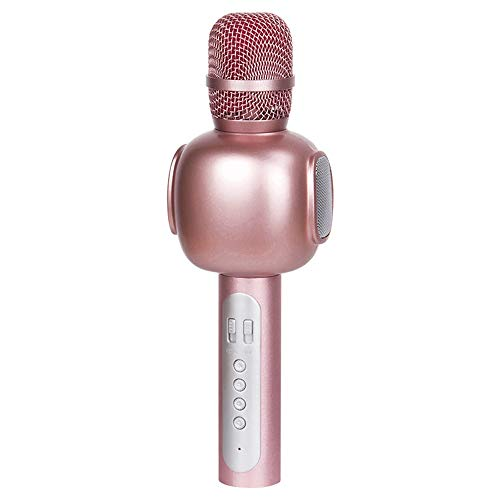 XFSE Auricular Inalámbrico Bluetooth Micrófono K Canción Tesoro De Micrófono Inalámbrico Canto Música 25 * 6cm (Color : Pink)