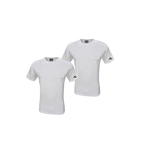 magliette uomo diadora Diadora 2 t-Shirt Uomo Girocollo Cotone Interlock Maglia Mezza Manica Art.6061 (6/XL