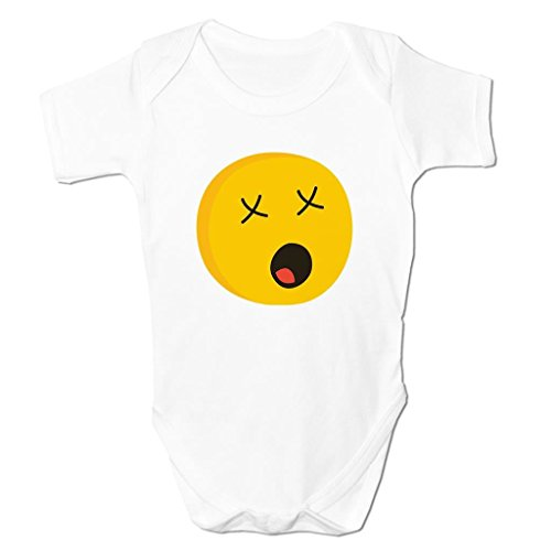 Bang Tidy Clothing Astonished Face Emoticon Icon Symbol Cartoon Funny Cute Kids Baby Grow