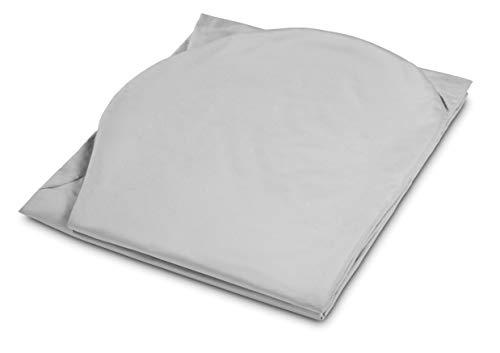 Traumnacht Jumbo XXL Bezug, für Seitenschläferkissen, Schwangerschaftskissen, Lagerungskissen in 140 x 75 x 20 cm, grau