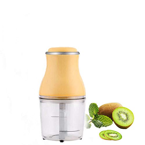 Hanguang Meat Grinder, Mini Food Chopper, 200W 500ML Food Processor with 4 Stainless Steel Blades for Baby Food, Meat, Vegetables, Fruits and Nuts (Yellow)