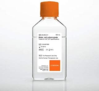 Mediatech 25-055-CI Cell Culture Grade Water Tested to USP Sterile Water for Injection Specifications, 100 mL (Pack of 6)