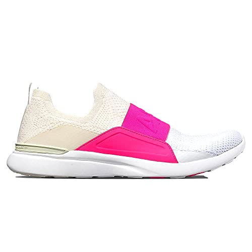APL: Athletic Propulsion Labs Women's Techloom Bliss Sneakers, Pristine/Fusion Pink/White, 10