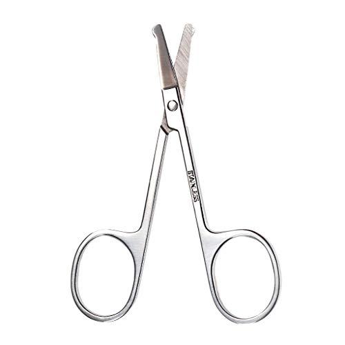 Baoblaze Ciseaux de coupe de sourcil Cheveux Cils Barbe Ciseaux Pour Hommes Femmes