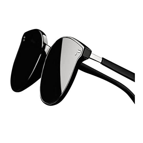 QIFFIY Gafas de Sol Hombres y Mujeres Gafas de Sol polarizadas Trend Conducción 100% Protección UV Seaside Gafas de Gama Alta, fácil de Llevar (Color : B)