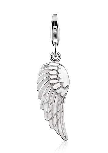 Nenalina Charm Engelsflügel Anhänger in 925 Sterling Silber für alle gängigen Charmträger 713070-000