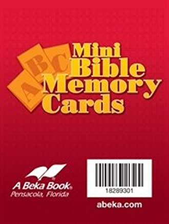 Mini ABC Bible Memory Cards Abeka Books
