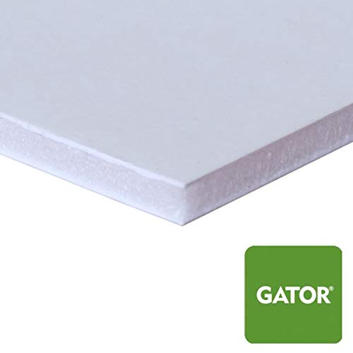 White Gator Board - 3/16' Thickness - Multiple Sizes - 10 Pieces - 10 pc Multi Pack - Rigid Foam Backing Board (8 x 10)