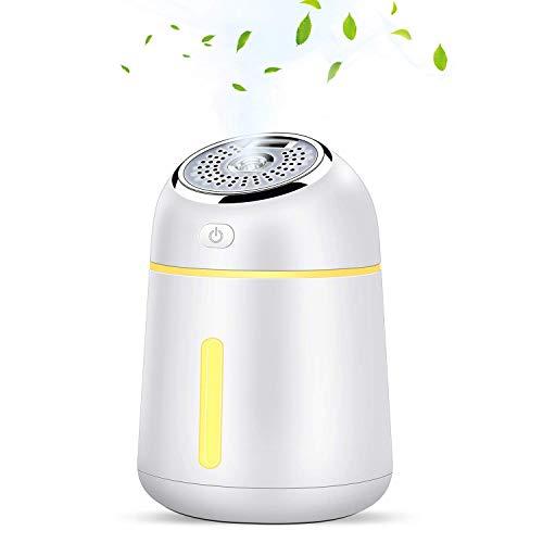 KuoYi 330ml Humidificador Ultrasónico, Difusor de Aromaterapia Difusor de Aceites Esenciales con luz LED y ventilador USB sin agua, apagado automático para oficina, hogar, spa, automóvil