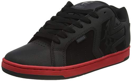 Etnies mens Metal Mulisha Fader 2 Skate Shoe, Black/Red/Black, 8 US