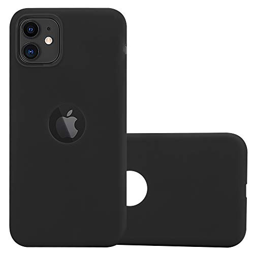 Cadorabo Custodia per Apple iPhone 11 (XI) in Candy Nero - Morbida Cover Protettiva Sottile di Silicone TPU con Bordo Protezione - Ultra Slim Case Antiurto Gel Back Bumper Guscio