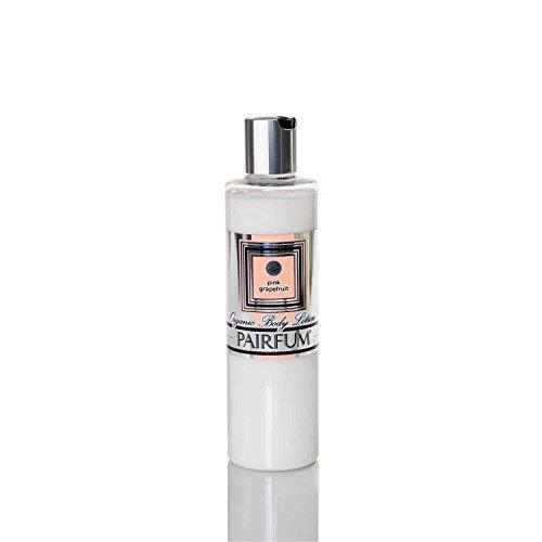 Crème pour le corps Bio – by PAIRFUM London - Riche en huiles essentielles bio/naturelles - Senteur : Pamplemousse Rose - Idéal pour les peaux sèches ou sensibles