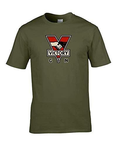 Victory Gin–George Orwell 1984Big Brother is Watching Hals Lace Herren t-de T-Shirt Damen grün grün L