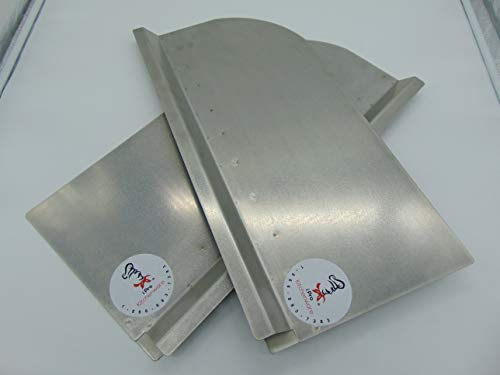 "A Set Of Deep Fryer Splash Guard 1/2"" Insert Channel (Stainless Steel)"