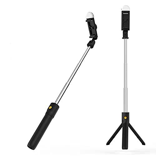N\P Soporte para Teléfono Selfie Stick, LED Selfie Stick, Live Selfie Stick para iPhone X Plus, Huawei, Samsung Rotación De 360 Grados. 412×405×290mm/A-negro