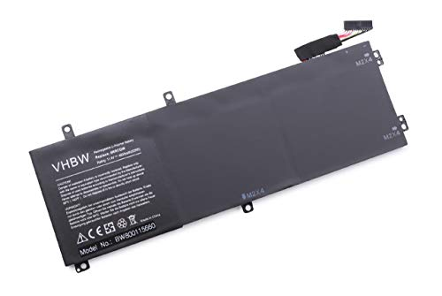 vhbw Akku passend für Dell Precision 15 5510, 15 5540, 5510, 5520, 5530, 5530 Xeon E-2176M Notebook (4600mAh, 11,4V, Li-Polymer, schwarz)