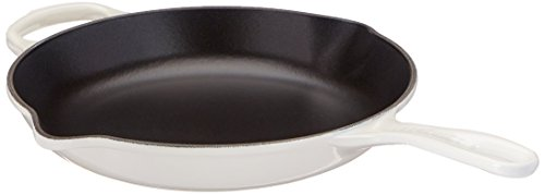 Le Creuset LS2024-2616 Signature Iron Handle Skillet, 10-1/4-Inch, White