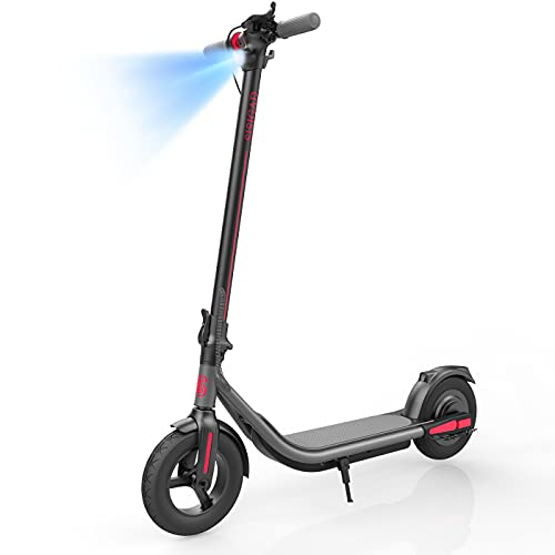 """Electric Scooter for Adults, Upgraded 500W Motor & Max Speed 19 MPH, 25 Miles Long Range, 10"""" Care-Free Tires, Portable Folding Commuter Electric Scooter for Travel and Commuting, UL Certified"""