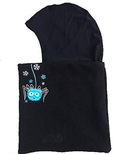 Skiweb Pasamontañas para niños. Edad 3–7Forro Polar con Tubo de Cuello de Seda Cabeza Cubierta