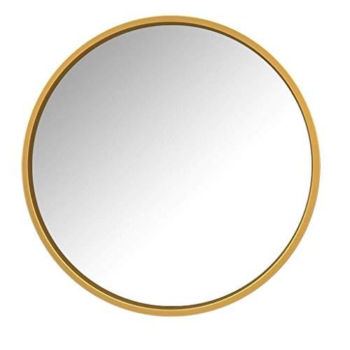Grand plat en métal doré encadrée Mural Miroir Vintage Chic Luxe Home Decor