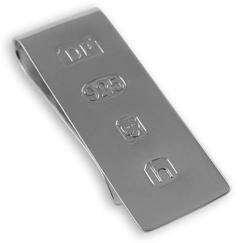 Broche de plata de ley para billetes con diseño Edición James Bond, en caja