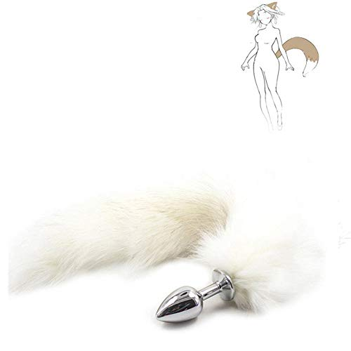 Love Games Massager for Couples Metal Artificial Fox Tail Anales Trainer Cosplay Plug for Beginners and Advanced Users White By Vottek