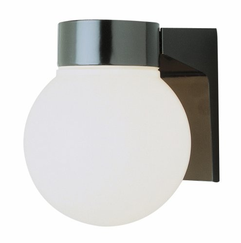 Trans Globe Lighting 4800 BK Traditional One Wall Lantern Outdoor-Post-Lights, 7-Inch, Black