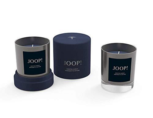 Engels Kerzen GmbH JOOP! Geurkaars in geschenkdoos kleur gunmetal grijs geur bergamot vetiver aromakaars fluwelen doos