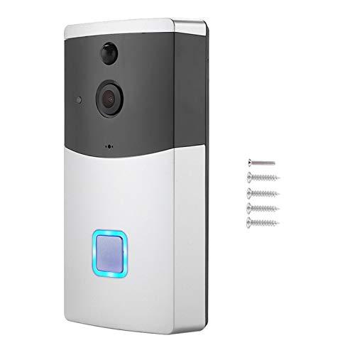 Timbre inalámbrico, timbre de cámara, timbre de visión nocturna, timbre de teléfono Intercomunicador para exteriores Smart Home para iOS/Android Seguridad de construcción del hogar