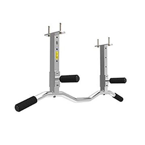 GJHBFUK Klimmzugstange Chin Up mit gepolsterten Griffe Exercise Fitness Bar Berufsoberkörpertraining Bar Multi-Grip Fitness Powerbar for Kraftstationen klimmzugbügel (Color : Silver, Size : L)