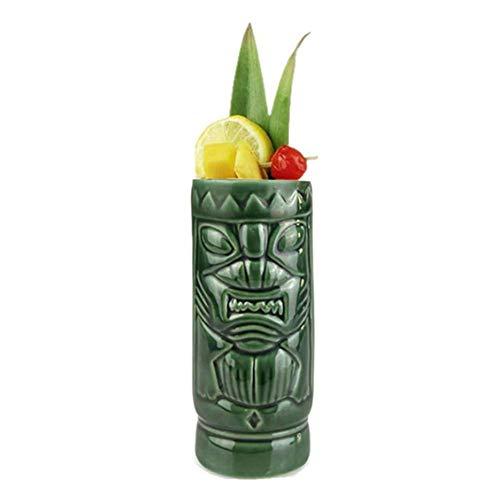 Magent Tiki Becher Set - Keramik Tiki Becher Cocktailbecher - Tiki Tassen Keramik Cocktail Tassen Gläser Getränke Tassen Hawaiian Party Barware
