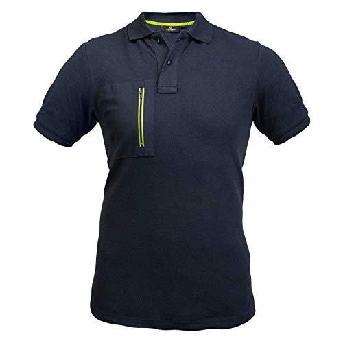 HANS SCHAEFER Workwear – Multifunktionales Poloshirt für Herren – Kurzarm-Arbeitsshirt mit Brusttasche für die Arbeit – Hochwertige und modische Arbeitsbekleidung