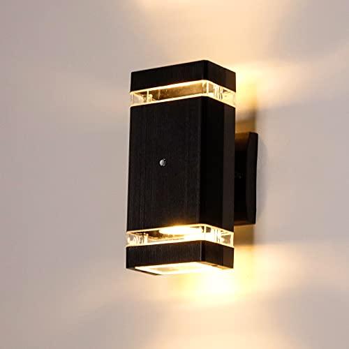 Anonry Applique da Parete Esterno Lampade LED da Esterno Cubi 10W 1100LM Bianco Caldo Impermeabile IP65 Applique Moderne con Sensore Crepuscolare,Luce da Moro per Giardino Balcone Terrazzo Scala