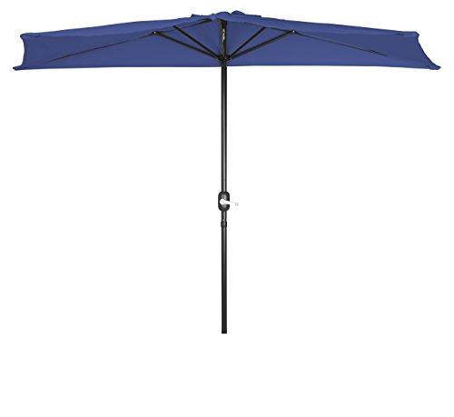 Trademark Innovations PATUMB BU Patio Half Umbrella-9', Blue