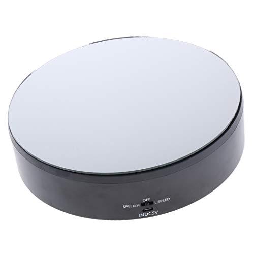 non-brand Giradischi con Display a Specchio Rotante Elettrico Espositore Gioielli Piatto - Nero