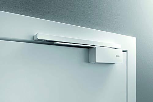 GEZE ActiveStop aufliegend für Zimmertür aus Holz, Türdämpfung, Türoffenhaltung, Fingerschutz, Türpuffer, Türstopper zur Nachrüstung (silberfarbig)